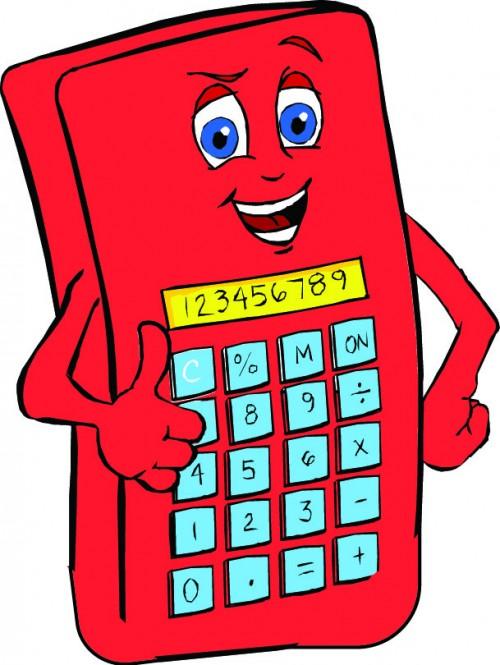 Calculator with no frame